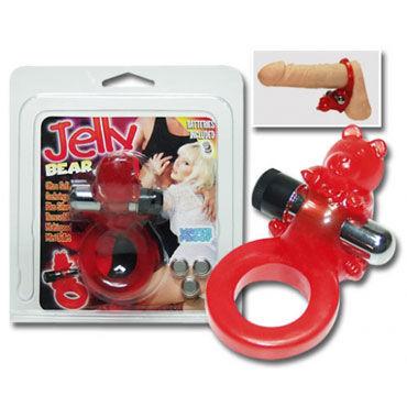 Jelly Bear кольцо С вибрацией эрекционное кольцо vibrating ring со стимулятором клитора с вибрацией черное
