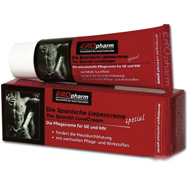 Spanish Love Cream, 40 мл Лубрикант с возбуждающим эффектом фаллоимитатор на присоске 15 см