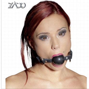 Zado Кляп Кожаный кляп 6 beastly маска черно красная