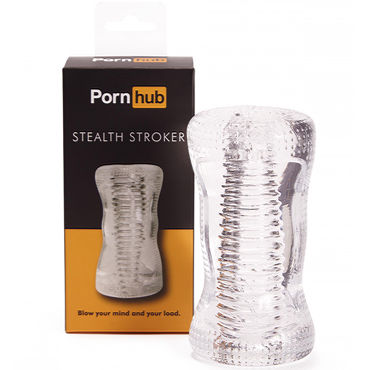 Pornhub Stealth Stroker, прозрачный Мастурбатор с рельефным тоннелем 6 beastly маска черно красная