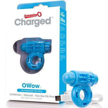 Screaming O Charged O Wow Ring, голубое Перезаряжаемое виброкольцо d odeco o zone оранжевый
