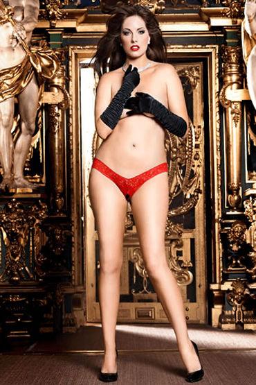 Baci трусики, красные Открытые, с кружевом erotic fantasy blonde elite