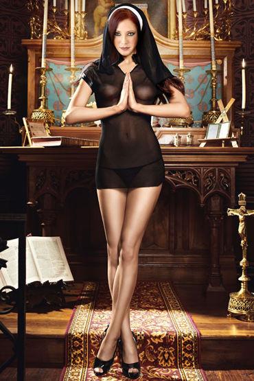 Baci Очаровательная Монашка Эротичное мини-платье и головной убор мини платья и сорочки bewicked