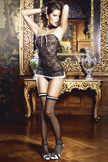Baci Сексуальная Служанка Мини-платье, воротничок и перчатки demoniq stella black keys
