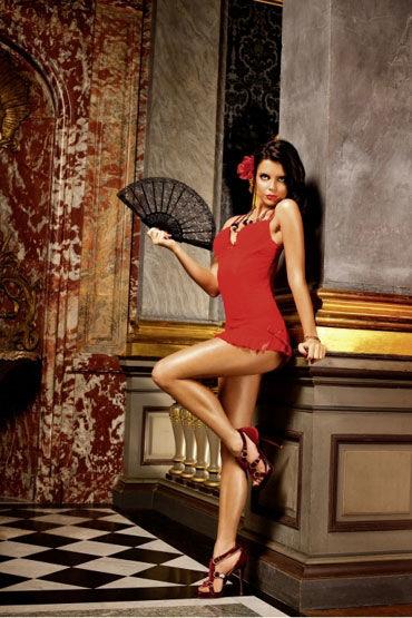 Baci мини-платье, красное С чашечками на косточках вибромассажер adrien lastic mini bonnie