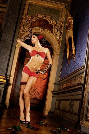 Baci комплект, красный Из бюстгальтера и шортиков популярные товары для взрослых baci lingerie женское нижнее белье