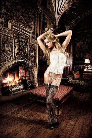 Baci корсет, светло-серый С подвязкой для чулок baci satin heart corset красный корсет с подтяжками для чулок