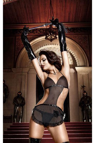 Baci перчатки, черные Со шнуровкой sitabella наручники украшены шипами
