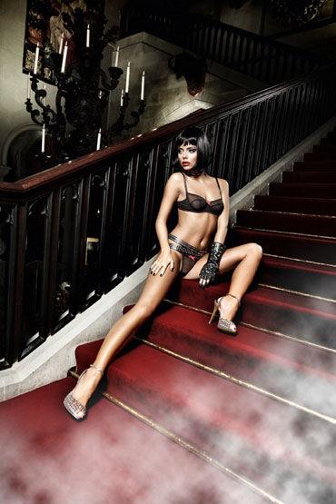 Baci комплект, черный Бюстик и стринги вибрирующие фаллопротезы и страпоны для женщин длина 16 18 см