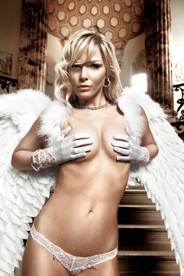 купить Baci перчатки, белые С кружевными манжетами по цене 2055 рублей