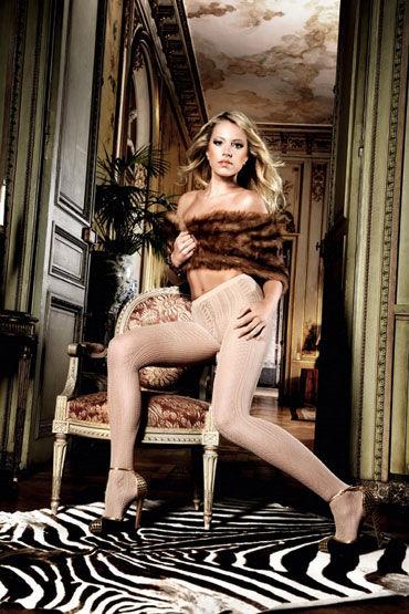 Baci колготки, светло-бежевые С нежной узором allure lingerie соблазнительный комплект мини юбка и бюстгальтер