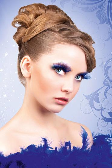 Baci Lashes, синий Длинные накладные ресницы