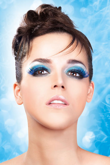 Baci Lashes, сине-фиолетовый Накладные ресницы с перьями baci lashes бежево коричневый накладные ресницы с перьями