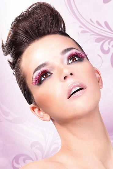 Baci Lashes, фиолетово-розовый Накладные ресницы с перьями baci комплект белый лиф и стринги с бантиками