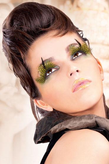 Baci Lashes, желто-черный Накладные ресницы с перьями baci lashes черно красный накладные ресницы с перьями