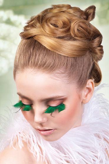 Baci Lashes, черно-зеленый Накладные ресницы с перьями baci lashes черно красный накладные ресницы с перьями
