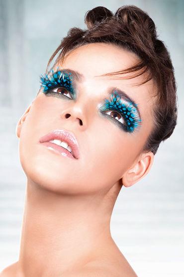 Baci Lashes, голубой Накладные ресницы с перьями baci lashes бежево коричневый накладные ресницы с перьями