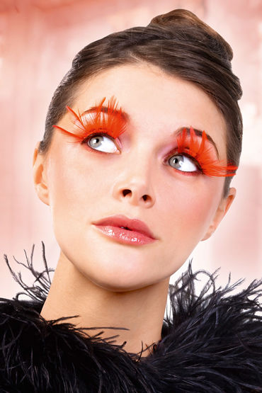 Baci Lashes, красный Накладные ресницы с перьями baci lashes бежево коричневый накладные ресницы с перьями