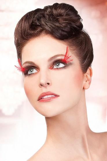 Baci Lashes, черно-красный Накладные ресницы с перьями baci lashes черно красный накладные ресницы с перьями