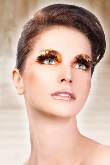 Baci Lashes, коричневый Накладные ресницы с перьями baci lashes бежево коричневый накладные ресницы с перьями