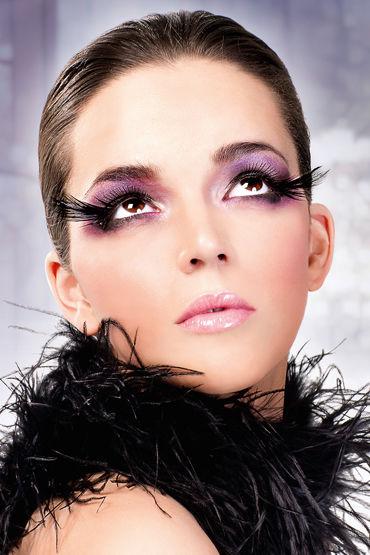 Baci Lashes, черный Накладные ресницы с перьями baci lashes черно красный накладные ресницы с перьями