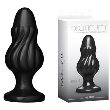Doc Johnson Platinum Premium Silicone The Spin Анальная пробка вакуумная помпа penis pump enlarger black