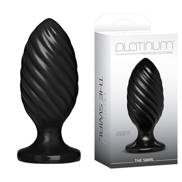Doc Johnson Platinum Premium Silicone The Swirl Анальная пробка lola toys back door small anal plug фиолетовая
