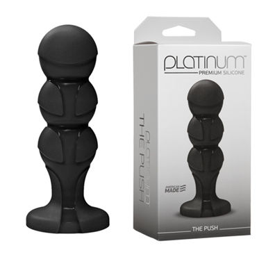 Doc Johnson Platinum Premium Silicone The Push Анальная пробка