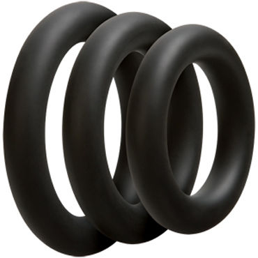 Doc Johnson Optimale 3 C-Ring Set Thick, черные - фото, отзывы