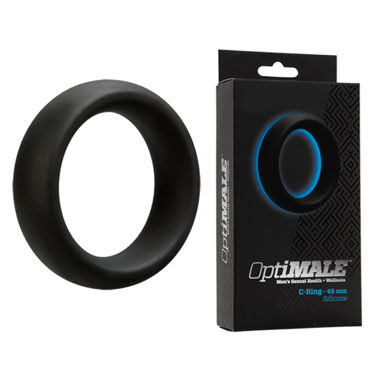 Doc Johnson Optimale C-Ring Thick 4,5см Эрекционное кольцо толстое blue line cock ring with 2 ball stretcher and optional weight ring черное кольцо на член и мошонку с возможностью довесить груз