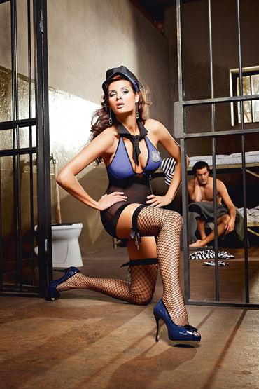 Baci Dreams Sexy Sergent Чулки к костюму надзирательницы чулки baci lingerie sexy sergent высокие в крупную сетку черные 42 46