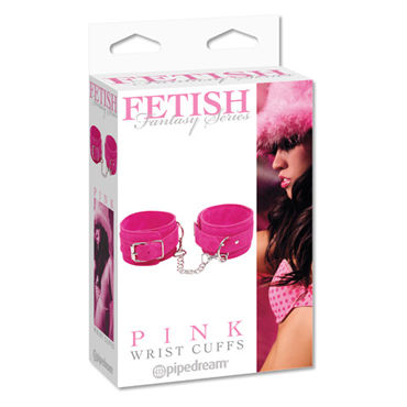 Pipedream Fetish Fantasy Series Pink Wrist Cuffs Замшевые наручники pipedream silicone cuffs черный