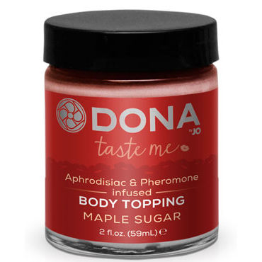 Dona Body Topping Maple Sugar, 59 мл Карамель для тела со вкусом жженого сахара сорочка и стринги obsessive diamond размер s m цвет черный