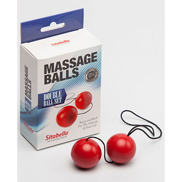 Sitabella Massage Balls Double Ball Set, красный Шарики массажные ш anasteisha k balls single