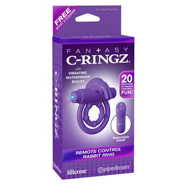 Pipedream Fantasy C-Ringz Remote Control Rabbit Ring Эрекционное кольцо с вибропулей на радиоуправлении