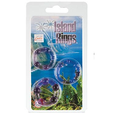 California Exotic Island Rings, фиолетовый Комплект эрекционных колец сико презервативы color цветные ароматизированные 3шт