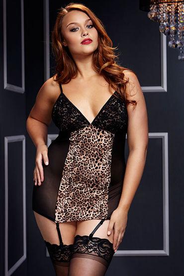 Baci Прозрачная сорочка, черная С леопардовым принтом массажер простаты nachtschwarz xpander x4 medium
