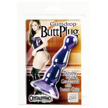 California Exotic Gumdrop Butt Plug, синяя Анальная пробка рельефная
