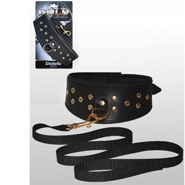 Sitabella Gold Collection BDSM Ошейник с поводком С золотистыми деталями