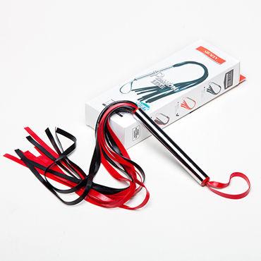 Sitabella Плеть-лента, черно-красная С металлической рукояткой nature skin real vibe вибратор максимально реалистичный вибромассажер