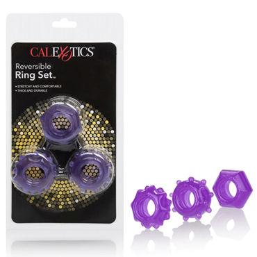California Exotic Reversible Ring Set, фиолетовый Набор эрекционных колец