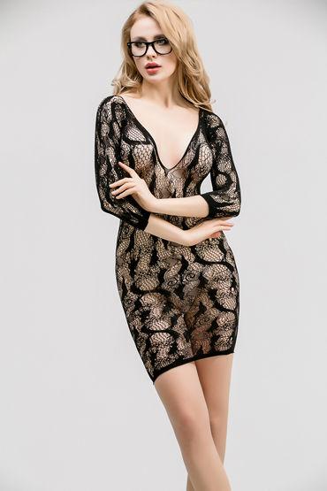 Femme Fatale Ажурное платье, черное С рукавами длиной 3/4 toy joy hi tech femme fatale