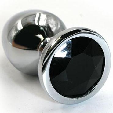 Kanikule Малая анальная пробка, серебристая С черным кристаллом