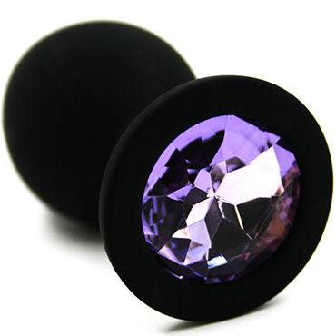 Kanikule Средняя анальная пробка, черная Со светло-фиолетовым кристаллом гели и смазки kanikule