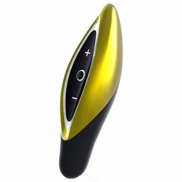 Zini Seed, черно-золотой Компактный вибромассажер zini deux черно фиолетовый эргономичный точечный вибромассажер