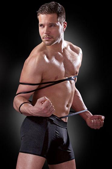 Fetish Fantasy Tie Me Up Эластичные трусы-боксеры с бондажными веревками с allure lingerie belt pasties g string