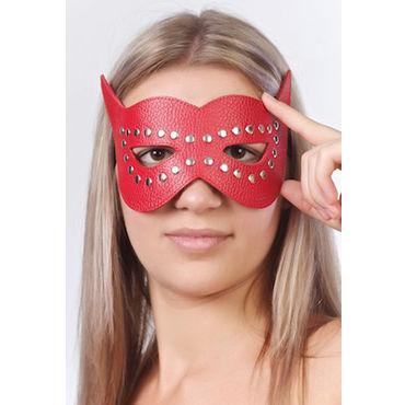 Sitabella маска, красная Кожаная, с велюровой подкладкой