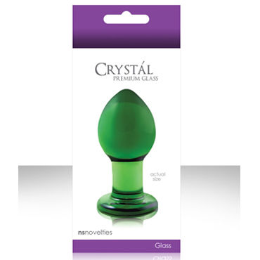 NS Novelties Crystal Plug, зеленый Анальная пробка из стекла, средняя ns novelties luna balls прозрачная анальная пробка большая