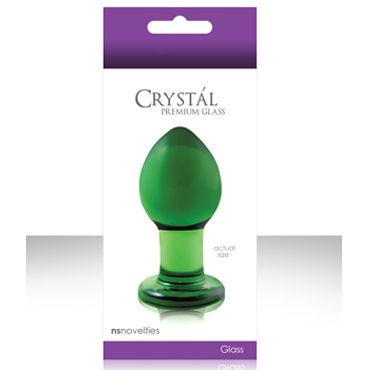 NS Novelties Crystal Plug, зеленый Анальная пробка из стекла, средняя пестисы petits joujoux gloria black