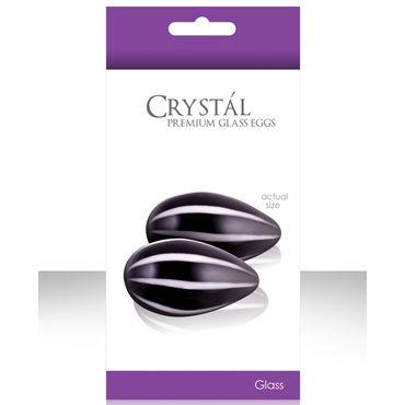 NS Novelties Crystal Kegel Eggs, черный Вагинальные шарики из стекла dream toys помпа с электронным манометром